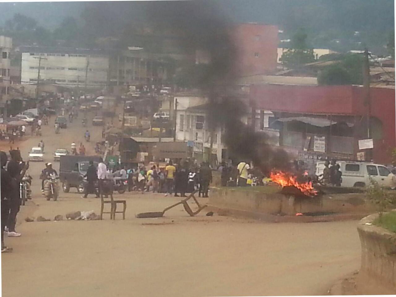 Protestations à Bamenda, le 21 novembre 2016.