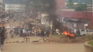 Protesters gather in Bamenda, 21 November 2016.