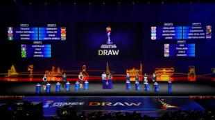 """Sorteo de la Copa Mundial Femenina de la FIFA en """"Seine Musicale"""", al este de París - 8 de diciembre de 2018"""
