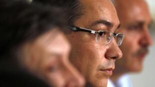 Le Premier ministre de l'USL, l'Union sociale-libérale roumain, Victor Ponta, à Bucarest, le 10 juin 2012.