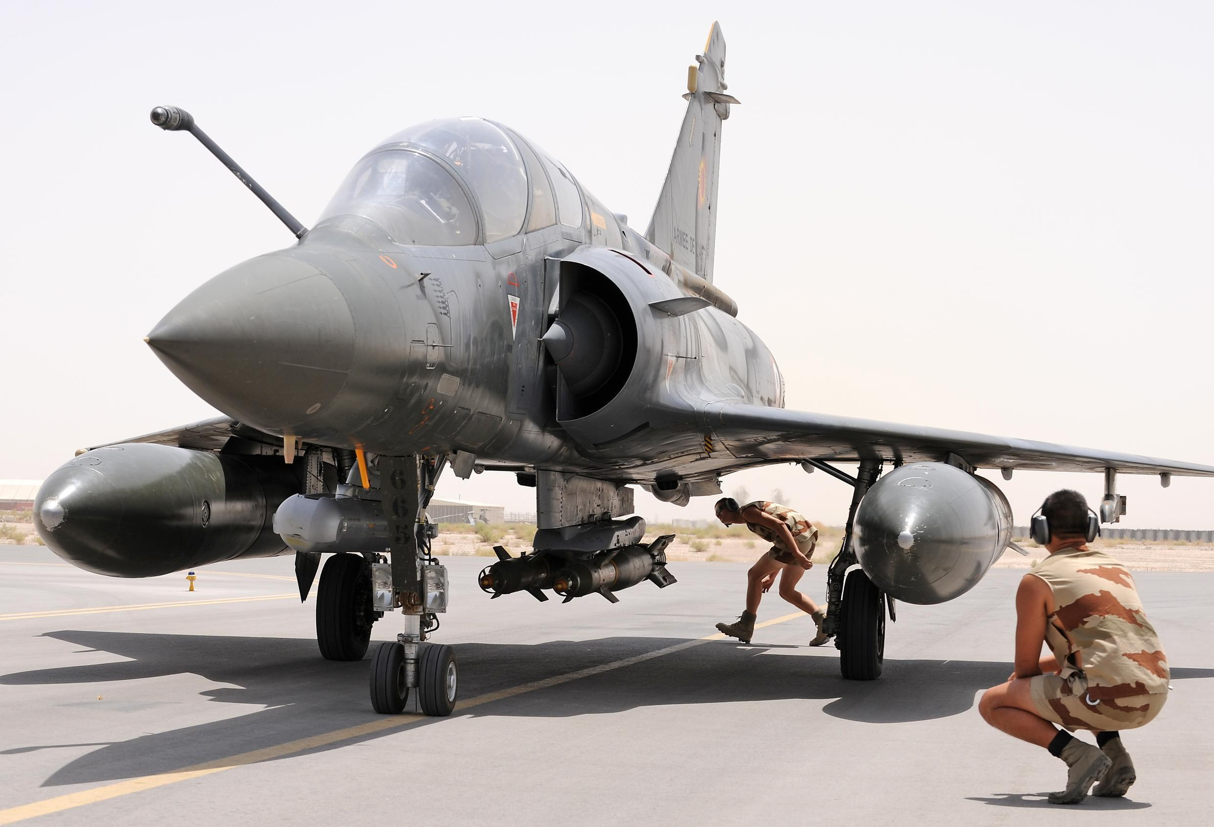 A Mirage 2000D in Kandahar, Afghanistan, in 2009