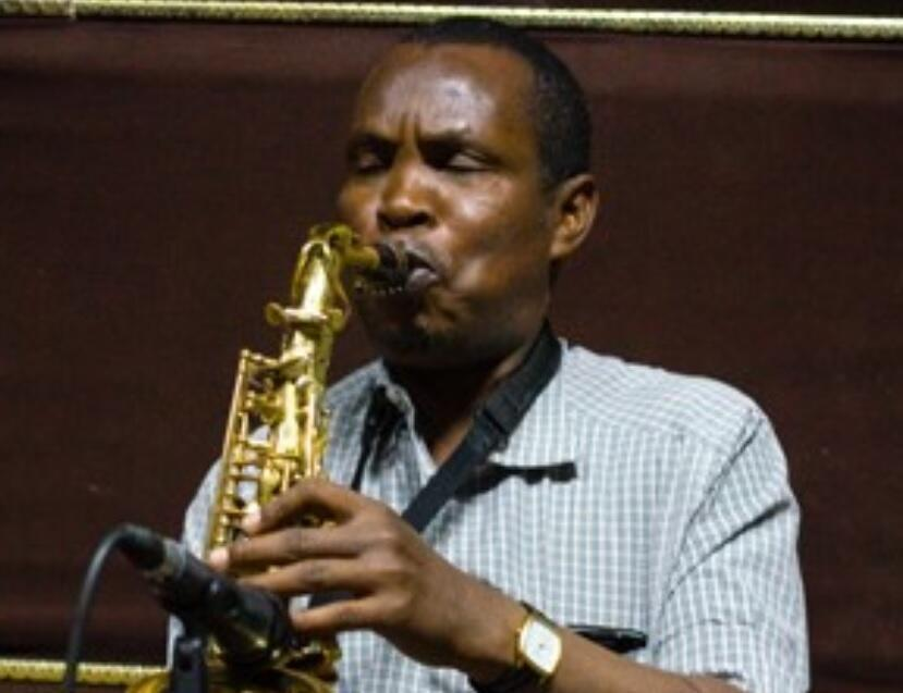 """Saxophonist Mohamed Abdi """"Alto"""" - Djibouti's finest sax player - has been deeply influenced by Harlem jazz."""