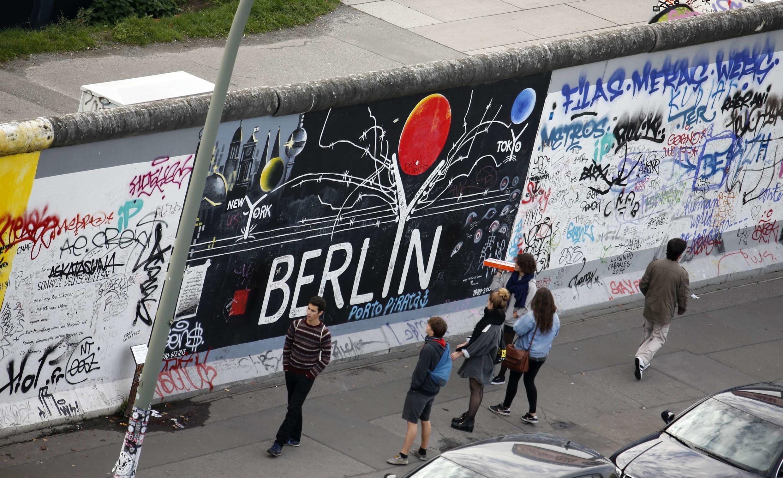 East Side Gallery, mảng lớn nhất còn lại của bức tường Berlin, 21/10/2014.