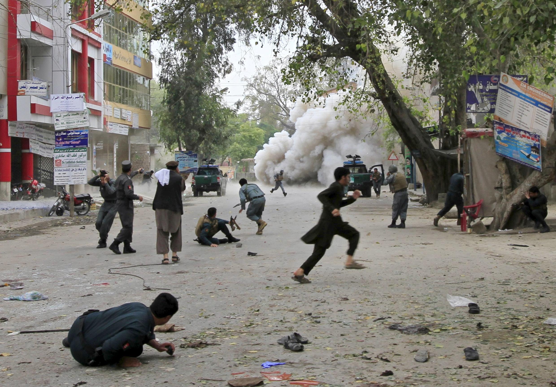 Explosion meurtrière à Jalalabad, ce samedi 18 avril 2015.