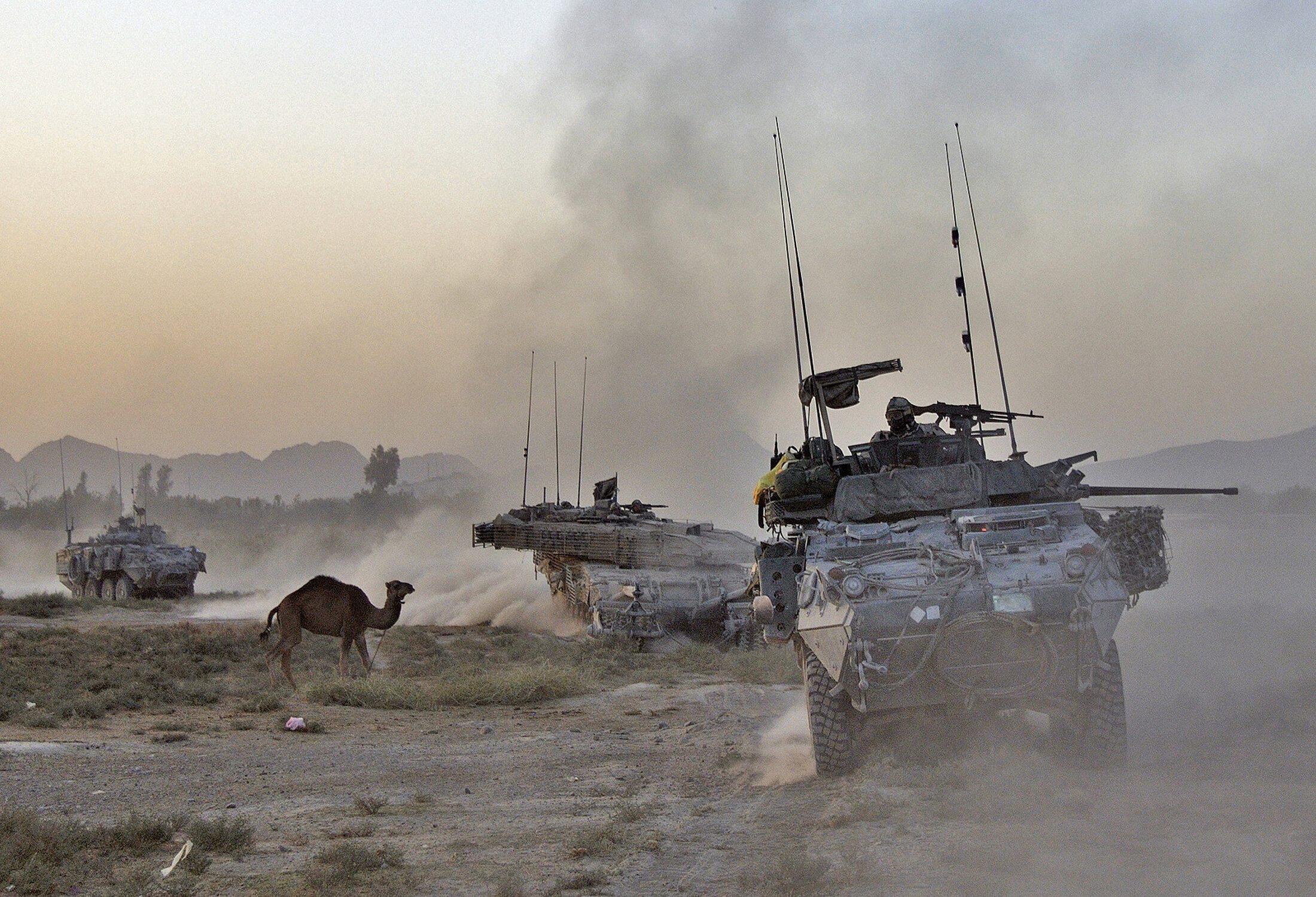Les forces canadiennes dans la province de Kandahar en 2010.