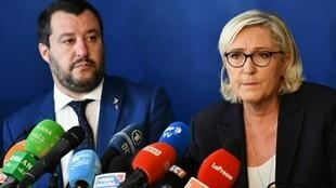 Bright lights of the far right: Italy's Matteo Salvini and Marine Le Pen.