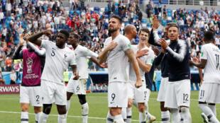 Francia celebra su calificación a la semifinal del Mundial de Fútbol Rusia 2018