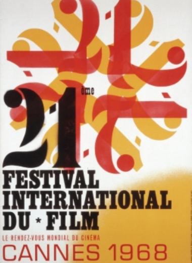 Cartaz da 21a edição do Festival de Internacional de Cannes, em 1968.
