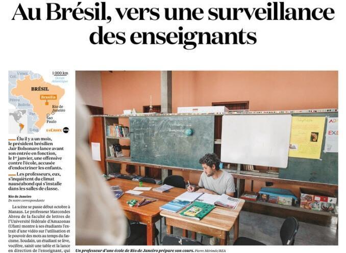 Matéria publicada no jornal La Croix nesta quarta-feira (28).