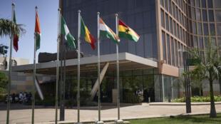 Hotel Sheraton, em Bamako, onde cinco chefes de Estado da CEDEAO tentam mediar o conflito no Mali. 23 de Julho de 2020.