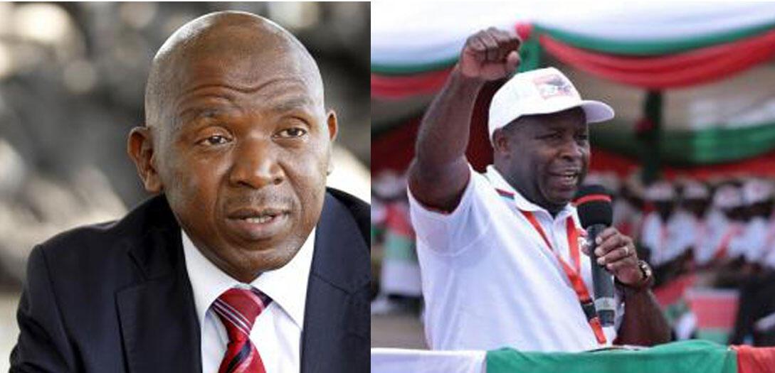 O líder da oposição Agathon Rwasa (esq) e o general Évariste Ndayishimiyé (dir) delfim do actual Presidente Pierre Nkurunziza e candidato do partido no poder CNDD-FDD, são os favoritos na eleikção presidencial de 20 de maio 2020 no Burundi.