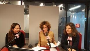de gauche à droite: Paola Martinez Infante, Emmanuelle Bastide, Ulrike Koltermann