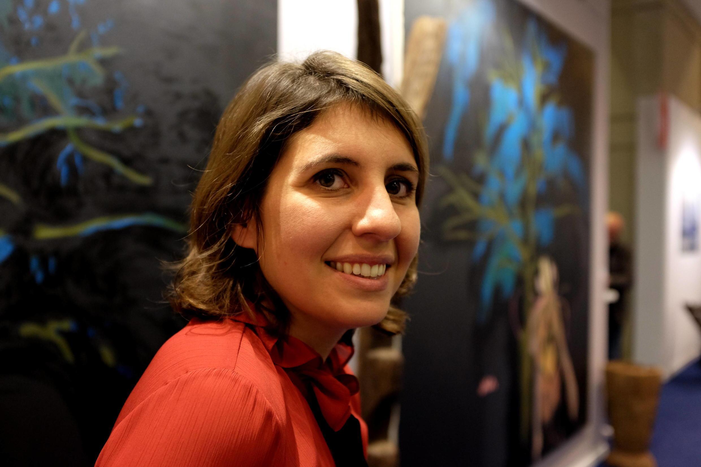 Victoria Mann, fondatrice et directrice de AKAA lors de la 3e édition de Also Known As Africa au Carreau du Temple, Paris.