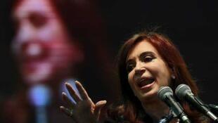 Presidente da Argentina, Cristina Kirchner, durante evento político em Buenos Aires.