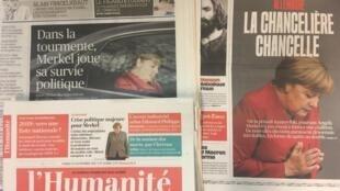 Primeiras páginas dos diários franceses de 21 de Novembro de 2018.