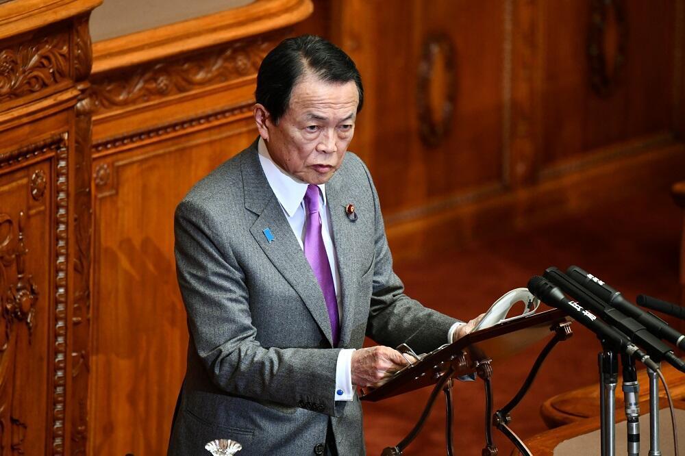 日本副首相、財務大臣麻生太郎資料圖片
