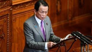 日本副首相、财务大臣麻生太郎资料图片