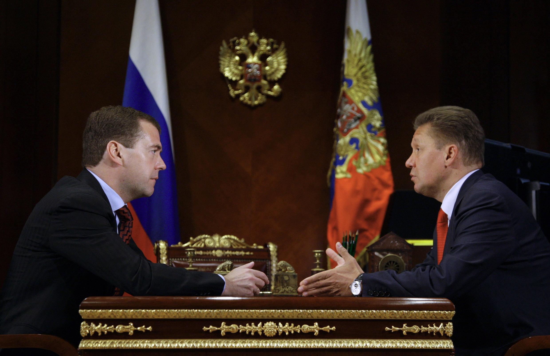 Беседа Д, Медведева с главой газпрома Алексеем Миллером 21 июня 2010 г.