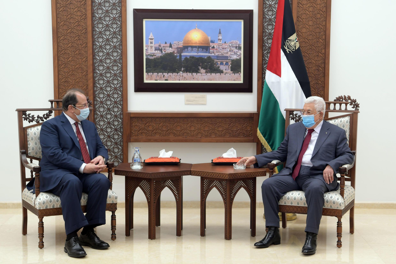 Le chef du renseignement égyptien Abbas Kamel a rencontré à Ramallah, le président de l'Autorité Palestinienne, Mahmoud Abbas, le 30 mai 2021.