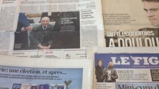 Primeiras páginas dos diários franceses de 17/4/2014
