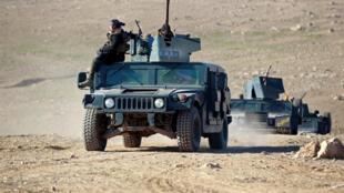 Quân đội Irak tiến về vùng nam Mosul, ngày 19/02/2017.