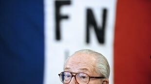 Jean-Marie Le Pen at an FN meeting last year