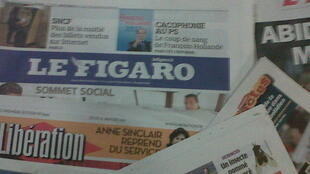 Jornais franceses.