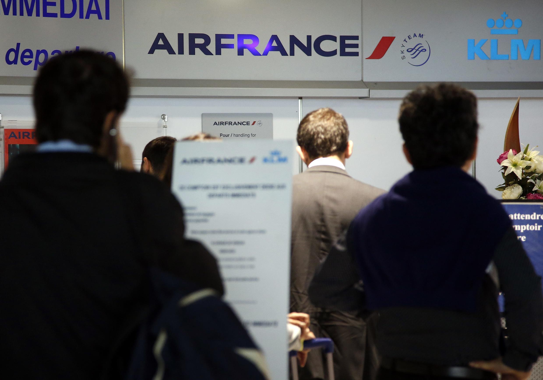 Passengers at Nice International airport earlier this week