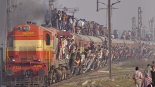 Le réseau ferroviaire indien est l'un des plus longs (et des plus empruntés) au monde.