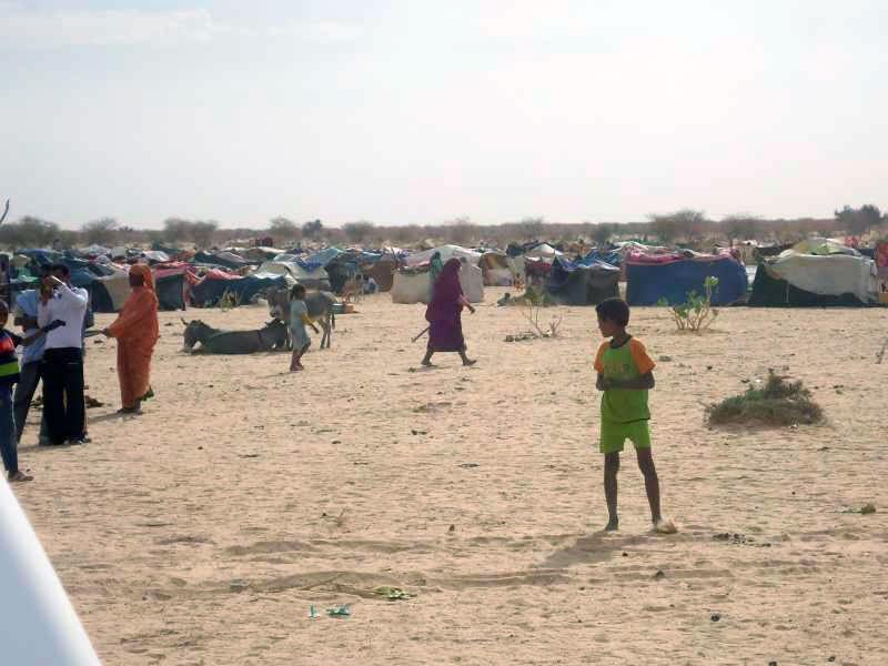 Camp du HCR en Mauritanie.