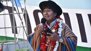 El presidente Evo Morales, en Tiquipaya, Bolivia, 28 de noviembre de 2017.