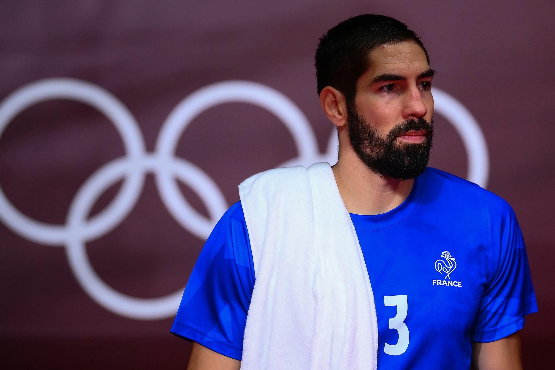 Le handballeur français Nicolas Karabatic lors du quart de finale des Jeux olympiques de Tokyo entre la France et Bahrein le 3 août 2021