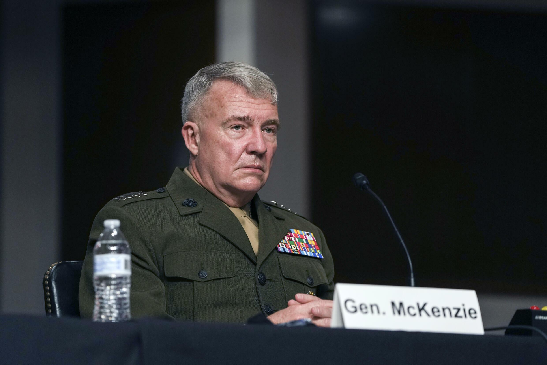 美國中央司令部負責人麥肯齊將軍,攝於9月28日。