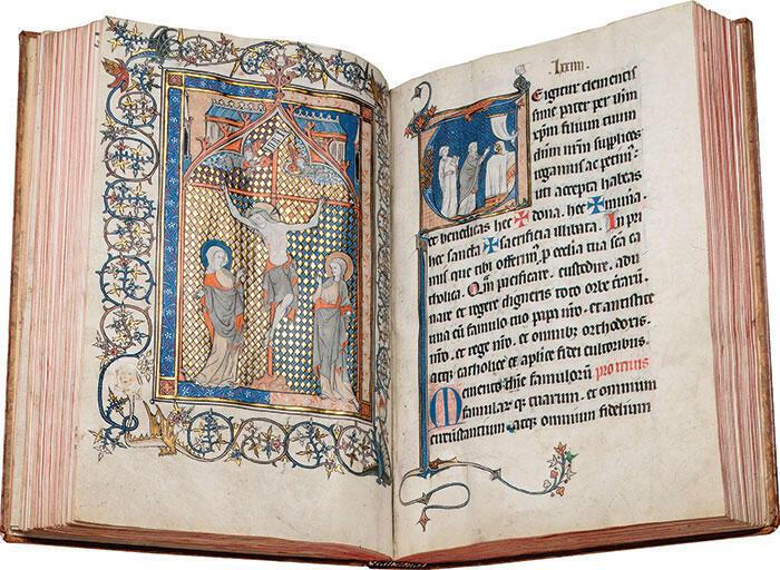 Misal de Soissons, noreste de Francia, manuscrito iluminado en pergamino, siglo XIII.