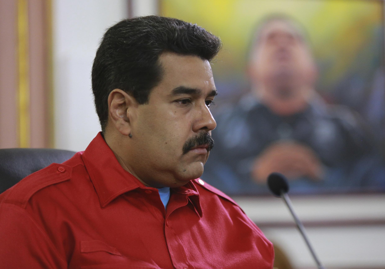 """El presidente Maduro habló inmediatamente de """"injerencia""""."""