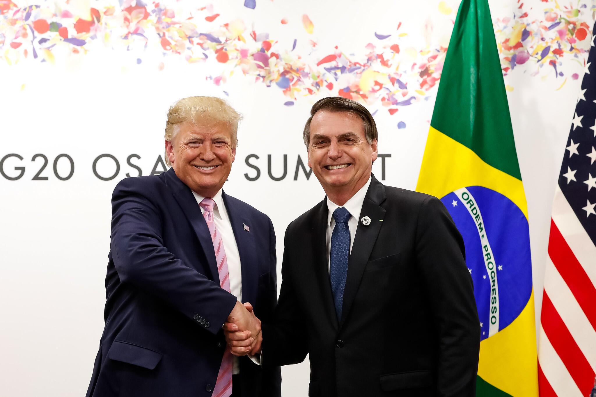 Presidente da República, Jair Bolsonaro, durante Reunião bilateral com o senhor Donald J. Trump, Presidente dos Estados Unidos da América. Osaka - Japão, 28/06/2019