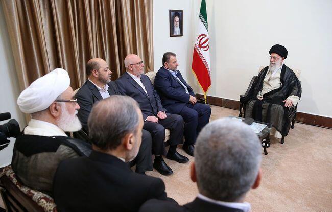 دیدار علی خامنهای با هیئت نمایندگی گروه حماس.