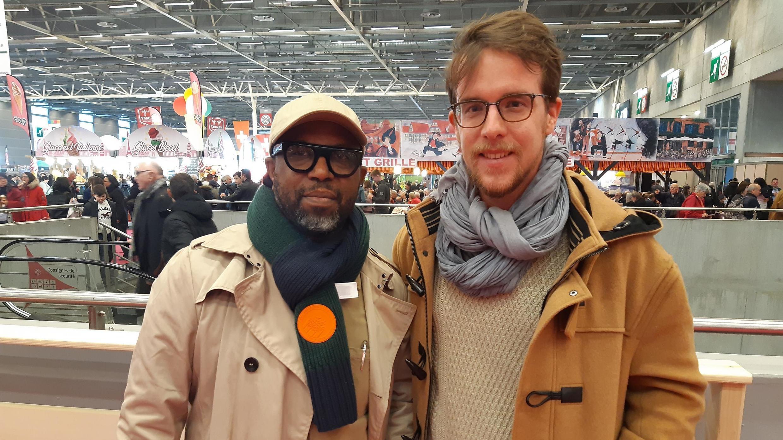 Ibrahim Ndiaye et Thibault  Delafont, au Salon International de l'Agriculture de Paris 2020.