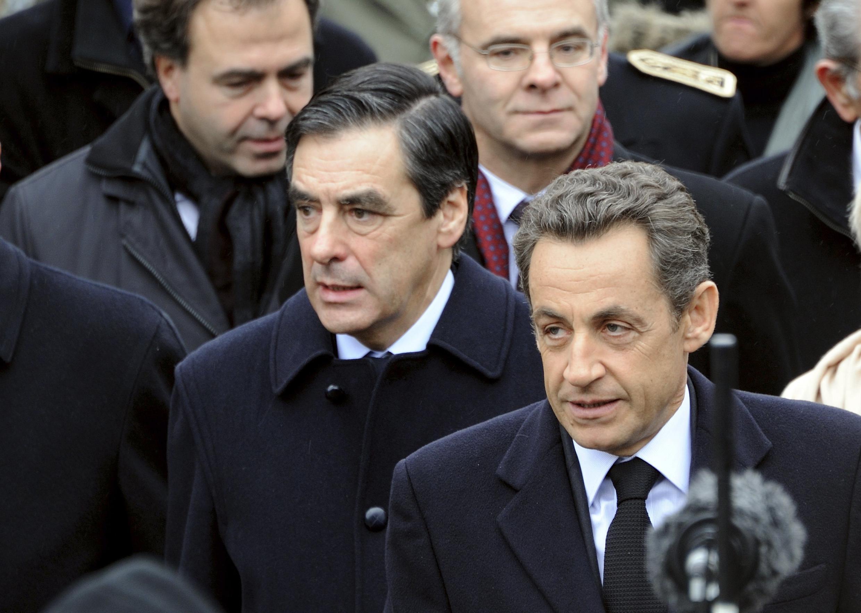 O presidente francês Nicolas Sarkozy durante a cerimônia em homenagem aos 40 anos da morte do General Charles de Gaulle em Colombey-les-Deux-Eglises.