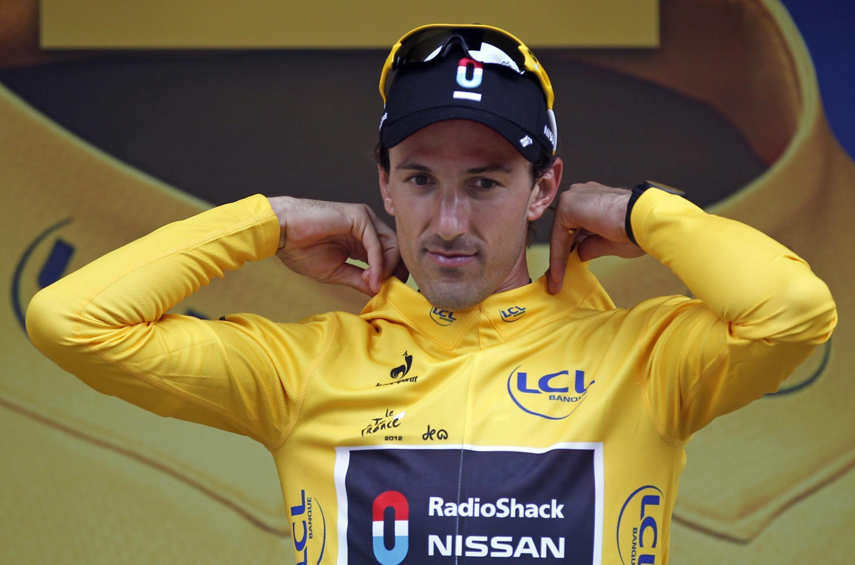 """Швейцарец Фабиан Канчеллара (Fabian Cancellara) в """"желтой майке"""" лидера """"Тур де Франс"""""""