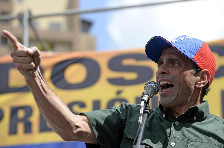 Discours d'Henrique Capriles, le 22 février 2014 à Caracas.