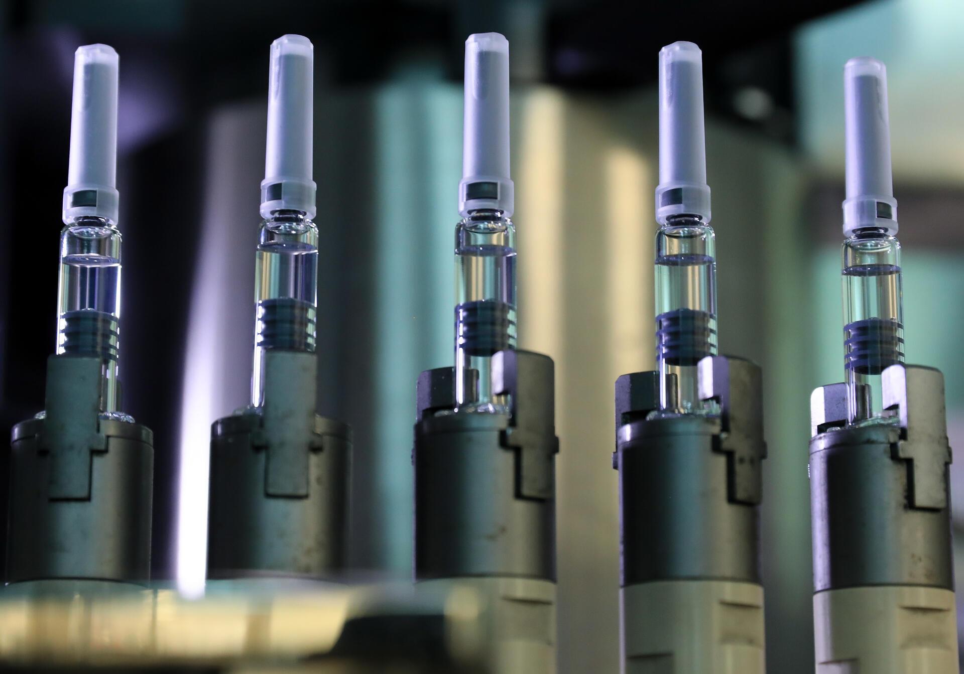 Un chaîne de production de vaccins (image d'illustration).