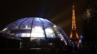 Vue des studios de France Télévisions lors du lancement de la 28e édition du Téléthon, le 5 décembre à Paris.