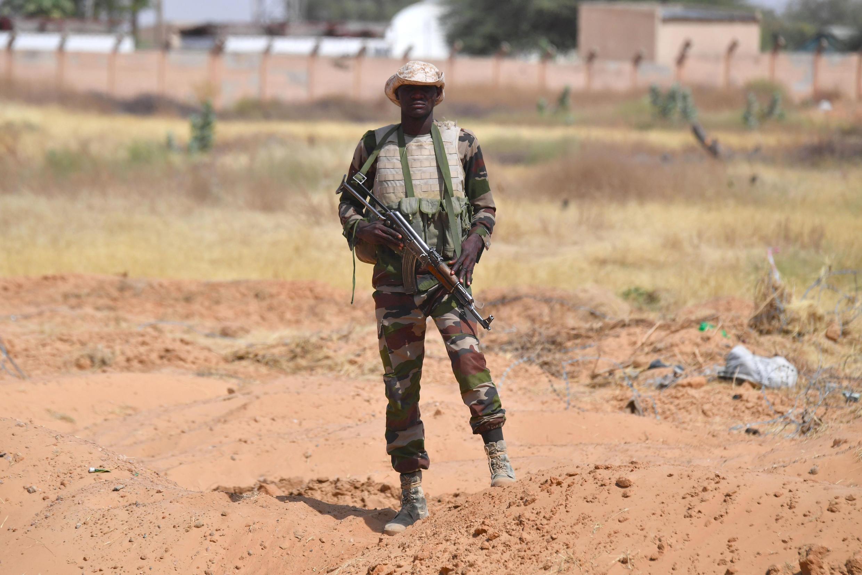 Un soldado nigerino en Diffa, el 23 de diciembre de 2020