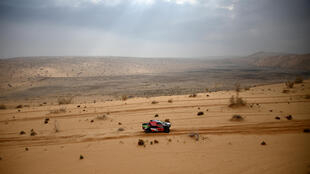 Saudi home hope Yazeed Al Rajhi en route to winning the seventh stage