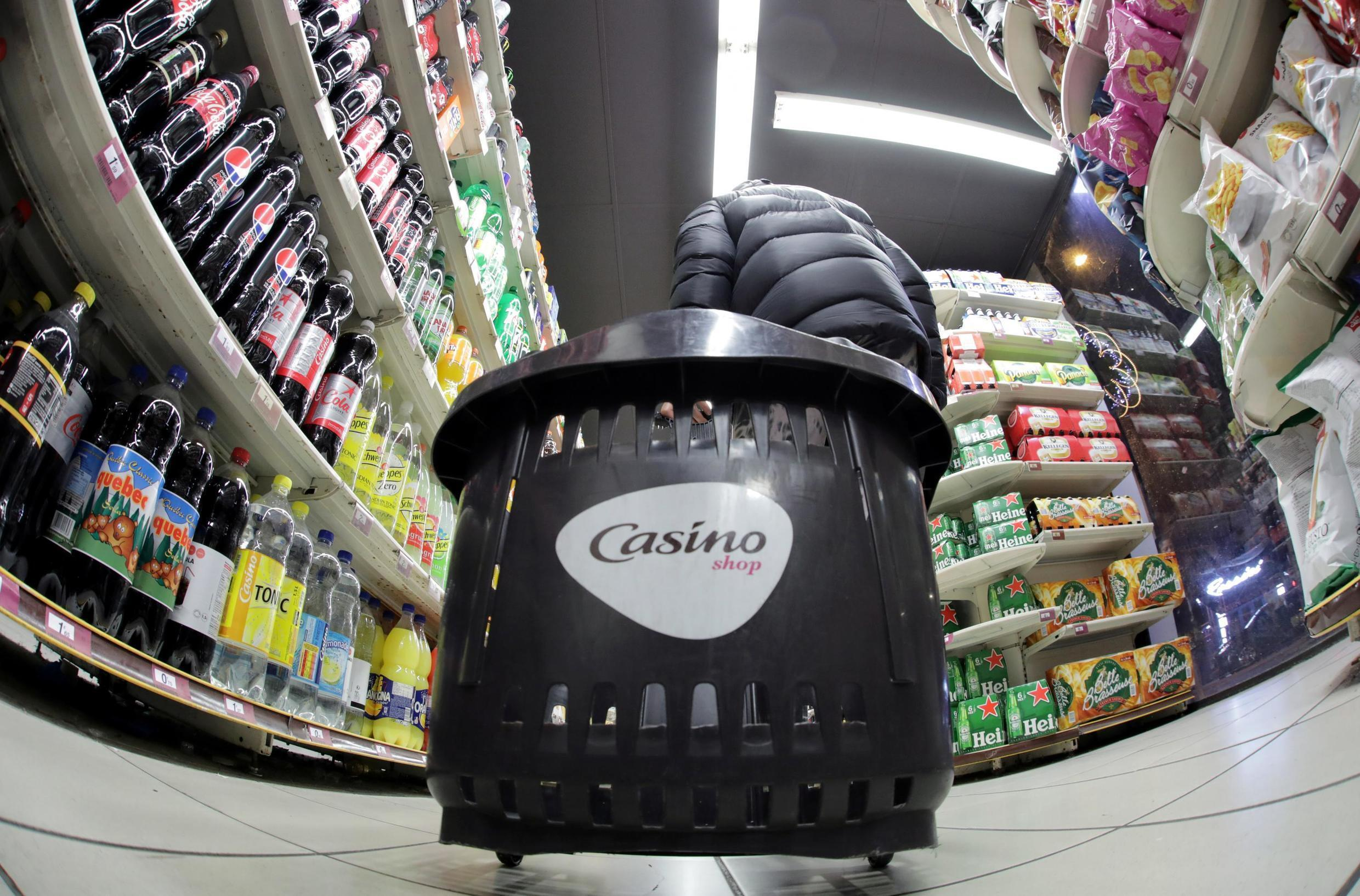 A customer shops in a Casino supermarket in Nice, France, January 15, 2019.