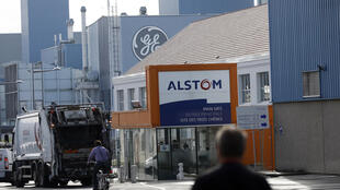 Entrée de l'usine Alstom à Belfort, le 24 juin 2014. (Photo d'illustration)