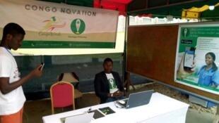 Stand promotionnel de la société Lisungui Pharma lors d'une convention à Congo Brazzaville
