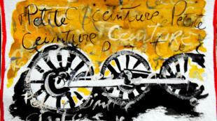 Dessin réalisé à partir de « Ecouter Paris autrefois, autour de la petite ceinture ».