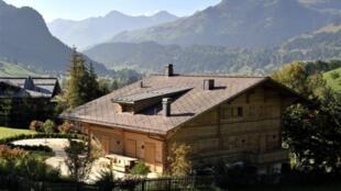 Chalet de Roman Polanski à Gstaad, en Suisse.